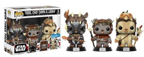 POP Star Wars: Ewok 3 Pack - Teebo, Chirpa, Logray  #3 (Exclusivo) - Funko (Apenas Venda Online)