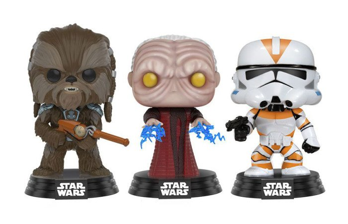 POP Star Wars: Tarfful, Emperador palpatine e Utapau Clone Trooper #3 Exclusivo Pack com 3 Pop Funko (Apenas Venda Online)