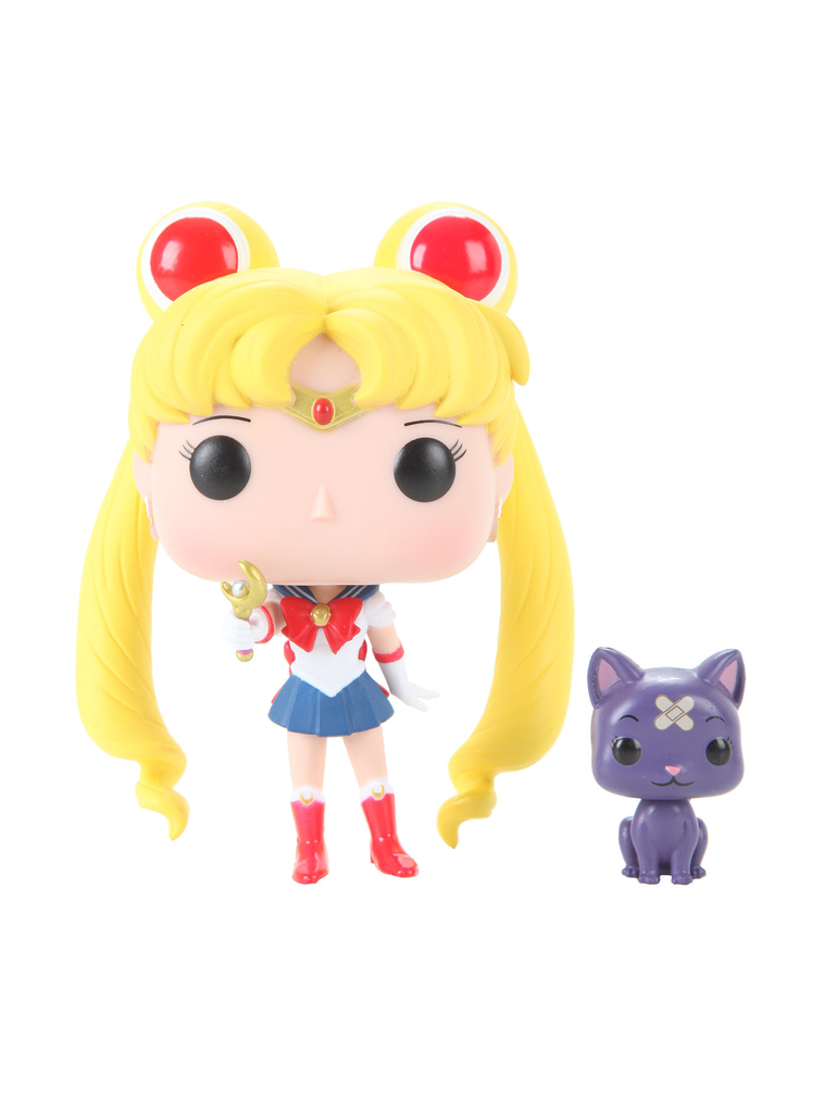 Sailor Moon With Moon Stick & Luna Exclusive: Sailor Moon #90 - Pop Funko (EXCLUSIVO)