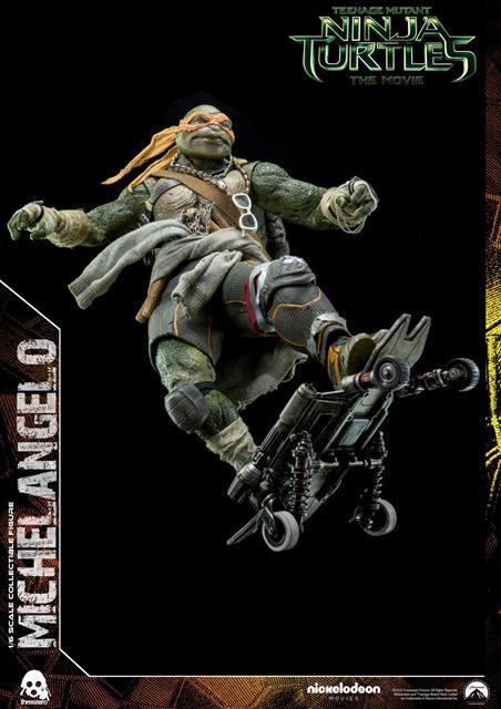 Boneco Michelangelo: Tartarugas Ninjas (Filme) Escala 1/6 - Threezero