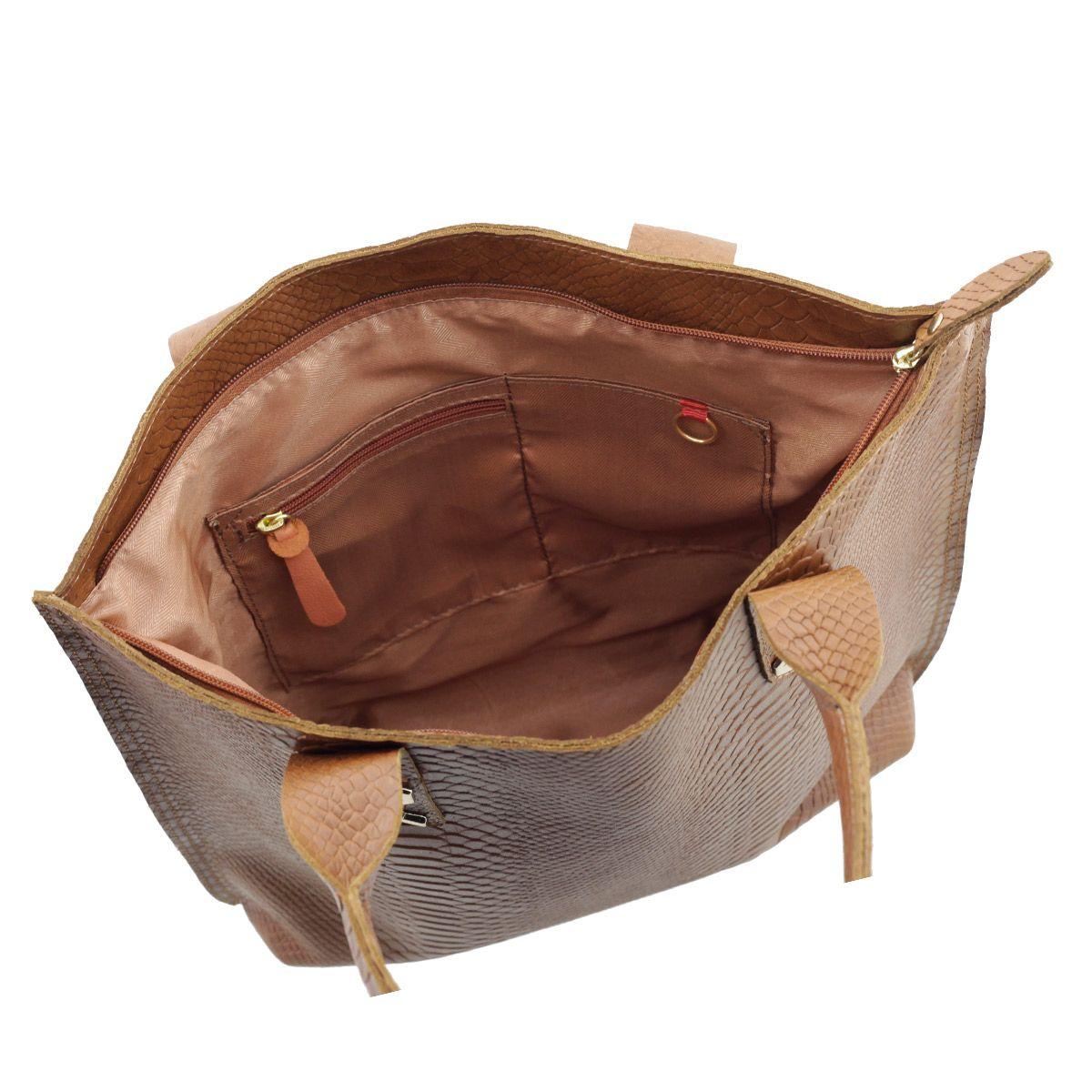 Bolsa em Couro Sacola Chocolate