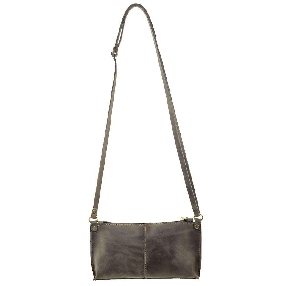 Bolsa Pequena Transversal Couro Verde Escuro