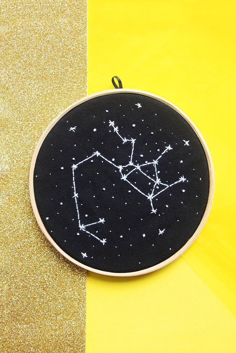 Bordado Decor Zodiaco - Sagitário