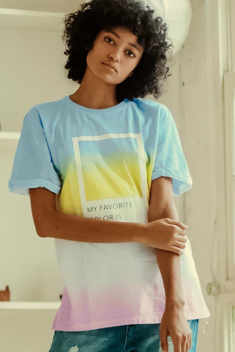 T-shirt Unisex Degrade Favorite Color
