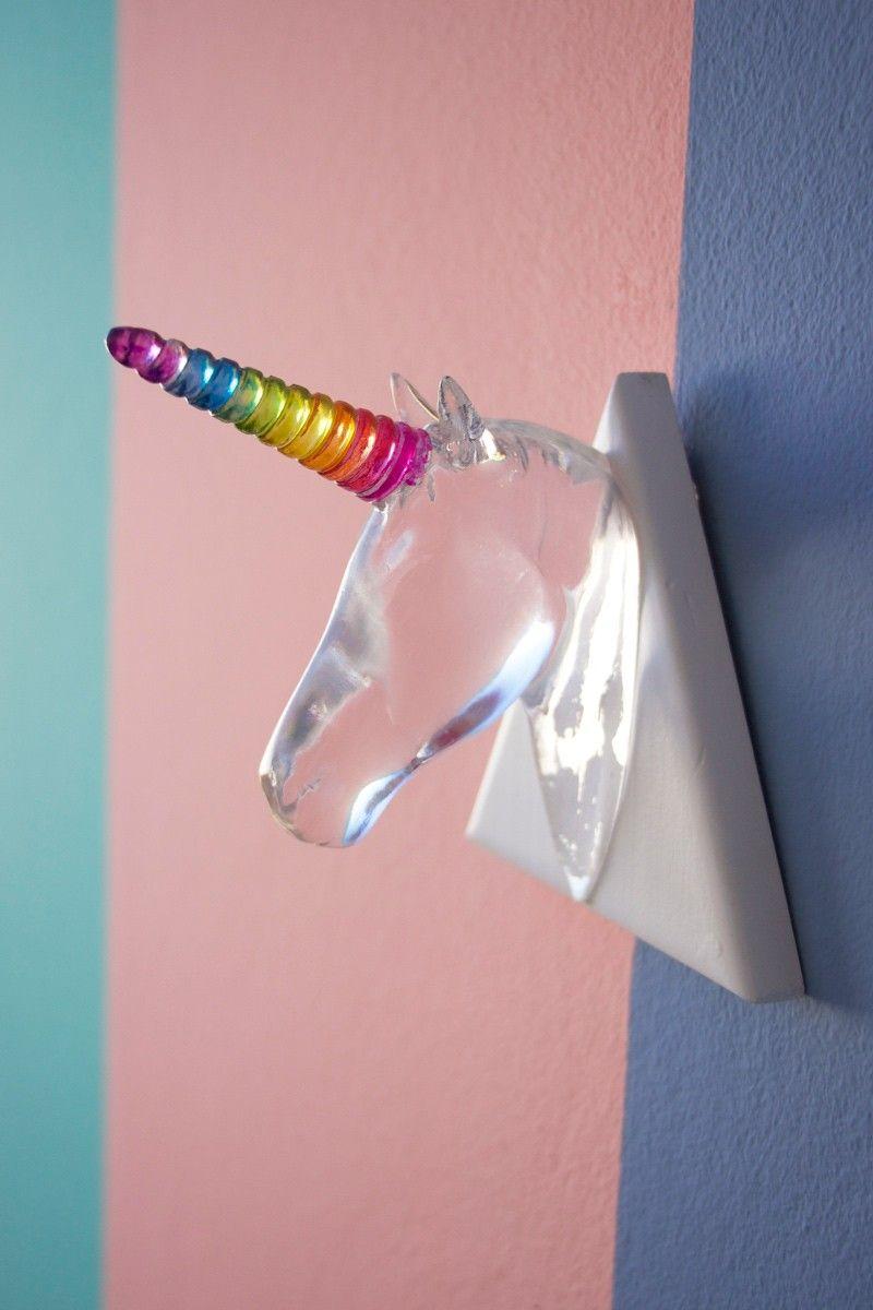 Unicórnio Crystal Rainbow Decorativo