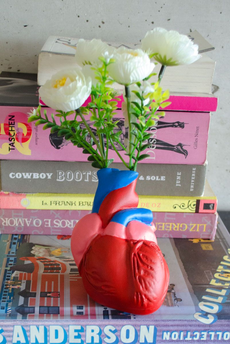 Vaso Decor Coração Colorido