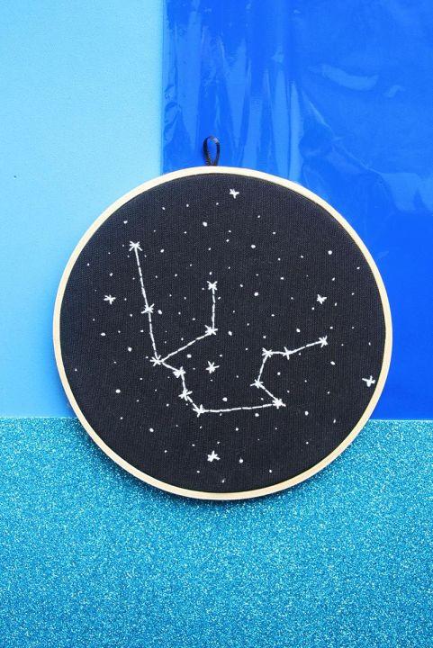 Bordado Decor Zodiaco - Aquário