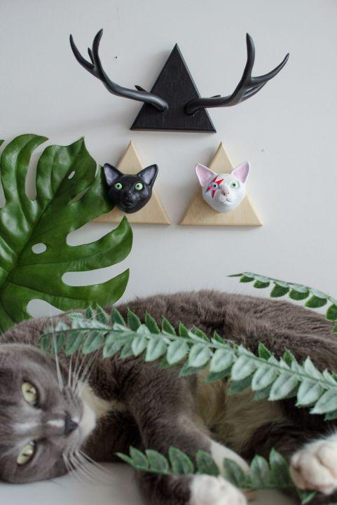 Gato Preto Decorativo