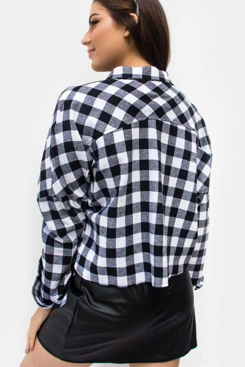 Camisa Cropped Xadrez Turim