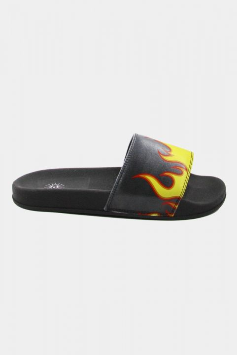 Chinelo Slide Estampado - FOGO