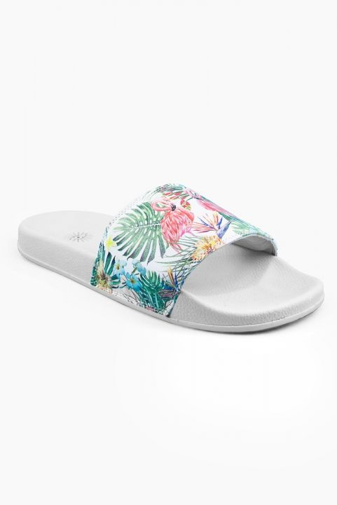 Chinelo Slide Estampado - FLAMINGO