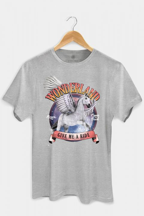 T-shirt PLUS Unicórnio Mescla