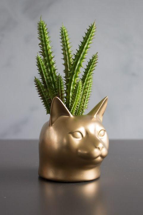 Vaso Decor Gato