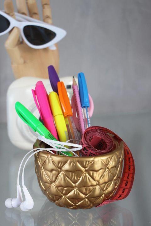 Cachepot Vaso Decorativo Abacaxi