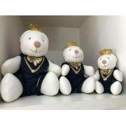 Trio de Pelúcias Urso Príncipe WU para Nichos Quarto do Bebê