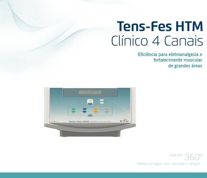 Tens-Fes Clínico 4 Canais - HTM