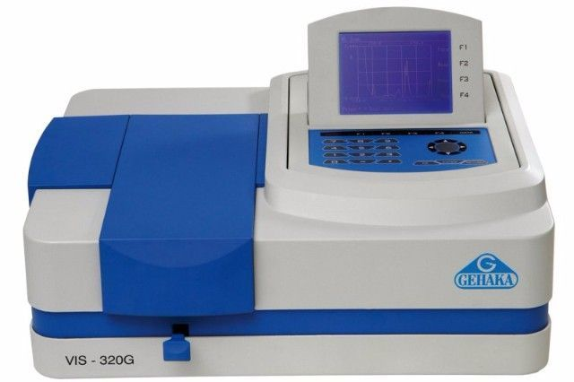 ESPECTROFOTÔMETRO DIGITAL VISÍVEL FAIXA 320-1100 NM COM DISPLAY LCD REF VIS-320G GEHAKA