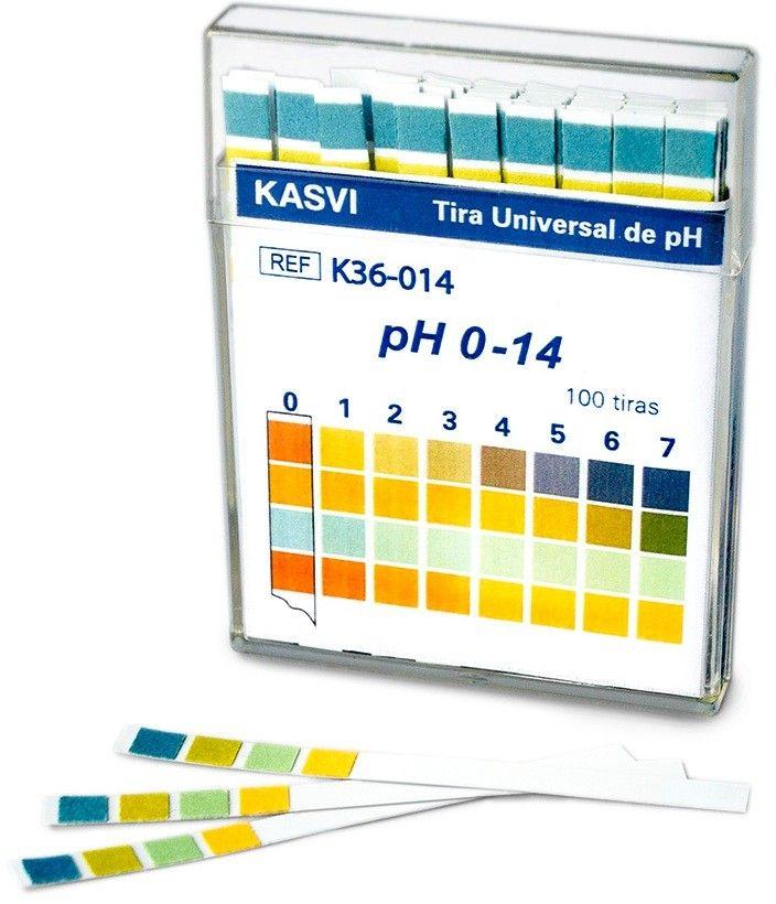 PAPEL INDICADOR DE PH ESCALA 0 - 14 PACOTE COM 100 UNIDADES K36-014 KASVI