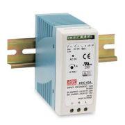 DRC-60 - Fonte de Alimentação Chaveada 60Watts com Carregador de Bateria, Função UPS, Trilho DIN