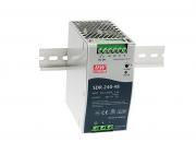 SDR-240 - Fonte de Alimentação Chaveada 240Watts, Função PFC, Trilho DIN