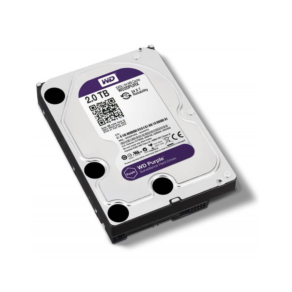 Disco Rígido HD 2TB SATA 7200 RPM Western Digital Purple  - Ziko Shop