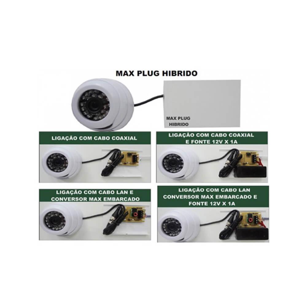 Max Plug Hibrido - MAX ELETRON Sem Fonte -Cod. 2039  - Ziko Shop