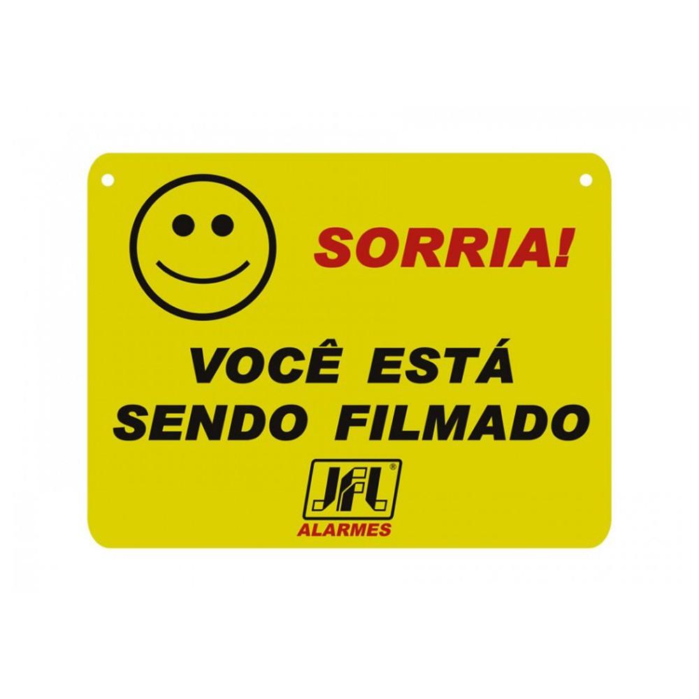 Placa de Advertência CFTV - JFL  - Ziko Shop