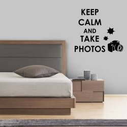 Adesivo de Parede Keep Calm and Take Photos