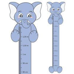 Adesivo Régua de Crescimento Elefante com Patas
