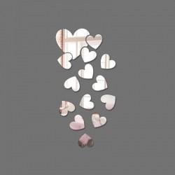 Espelho Decorativo Cascata de corações