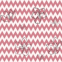 Papel de Parede Chevron Flowers Risk