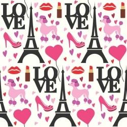 Papel de Parede Love Paris