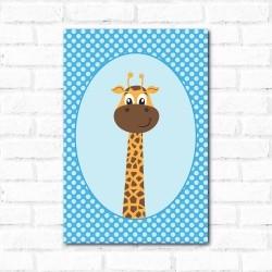 Placa Decorativa Porta Retrato Girafa