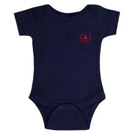 Body bebê manga curta - Azul marinho