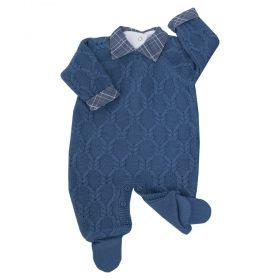 Conjunto bebê - Azul petróleo