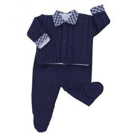 Conjunto bebê masculino - Azul marinho