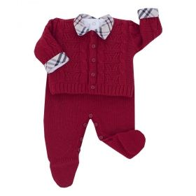 Conjunto bebê masculino - Vermelho