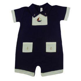 Macacão bebê - Azul marinho