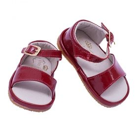 Sandália bebê feminina - Vermelho