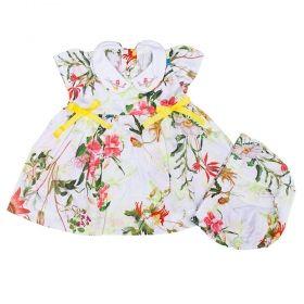 Vestido bebê com calcinha - Floral