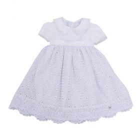 Vestido bebê luxo - Branco