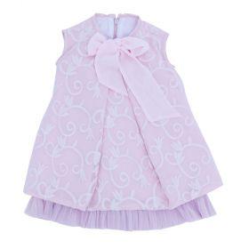 Vestido bebê bordado - Rosa