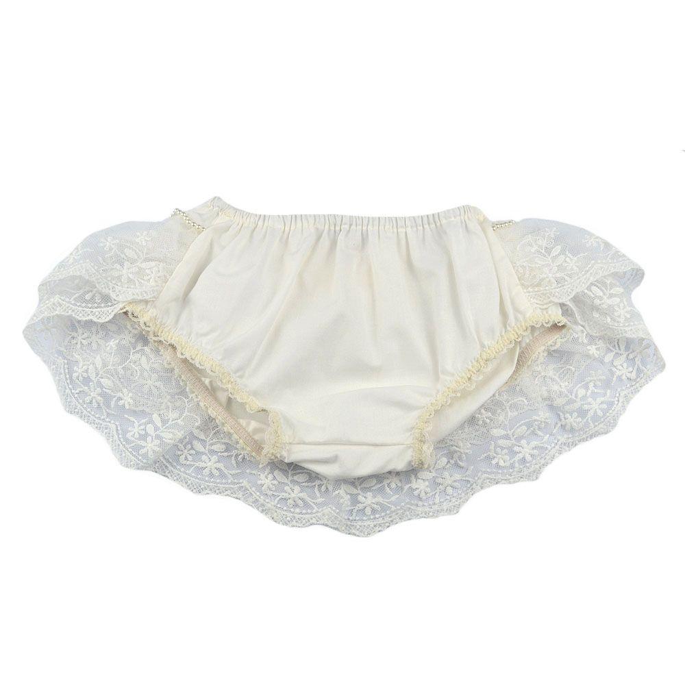 Calcinha bebê bumbum rico - Off white