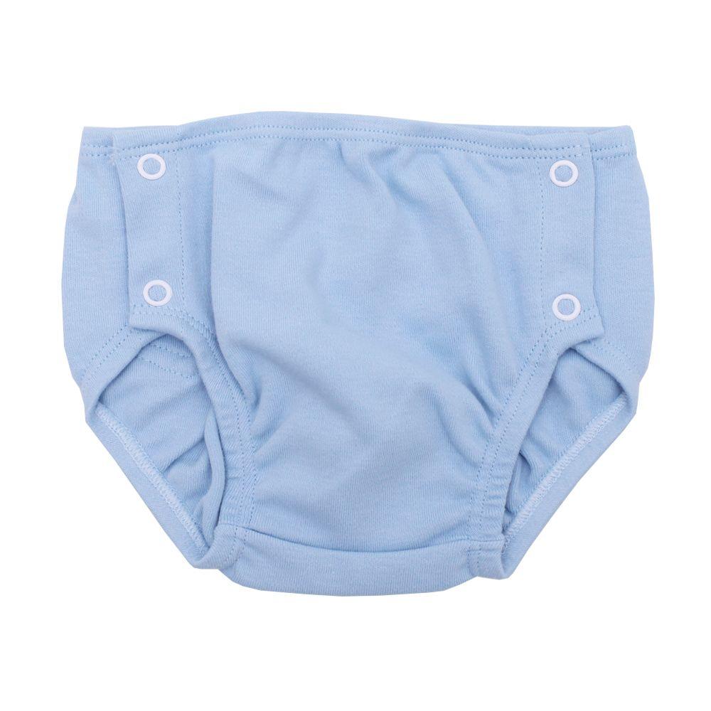 Conjunto bebê com body e cueca - Azul