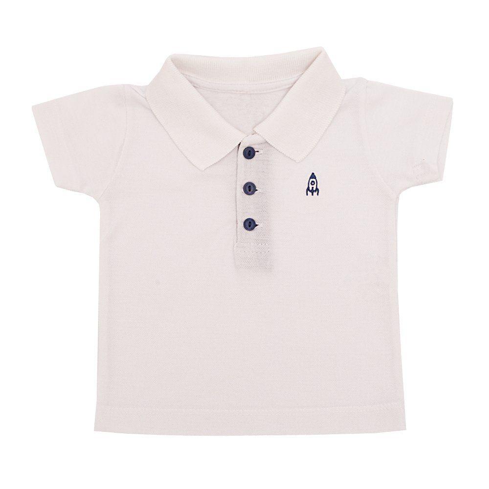 Conjunto bebê com camiseta e bermuda - Xadrez Azul
